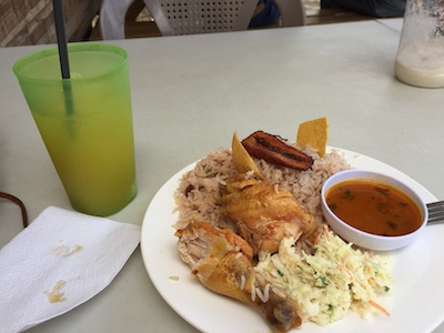 Belize lunch