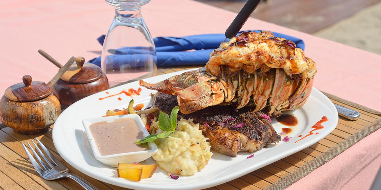 Belize lobster and steak