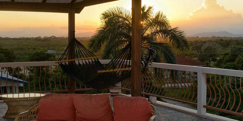 Sunset over the Maya Mountains