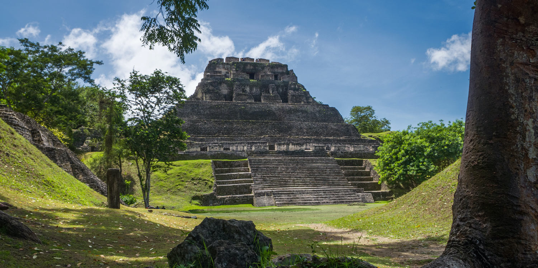 Maya ruins jungle temple