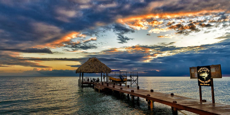 Belize beach pier