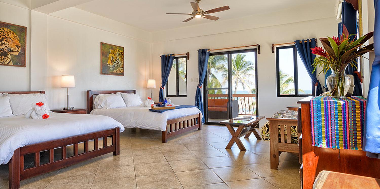 Hotel room with balcony