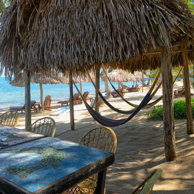 Beachfront dining in Hopkins Belize