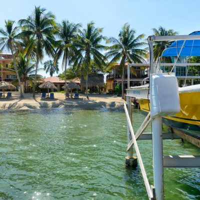 Boat on dock in Belize