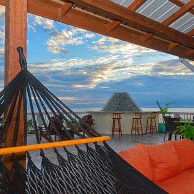 Caribbean rooftop bar