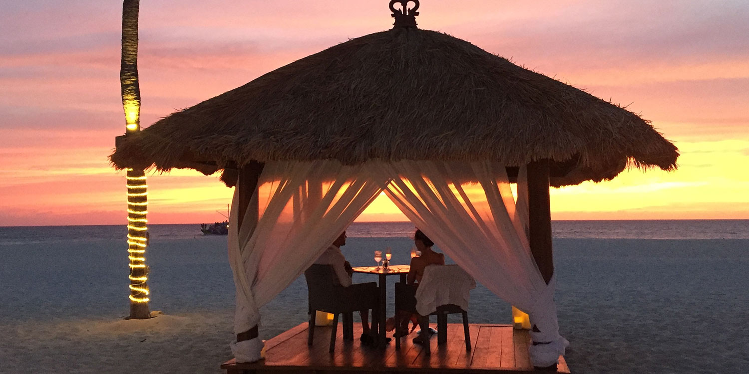 Belize romantic dinner