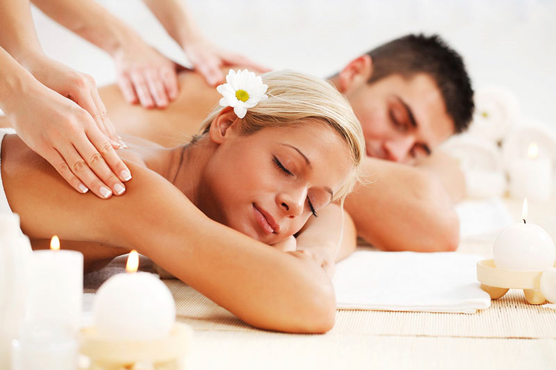 Rooftop couples massage