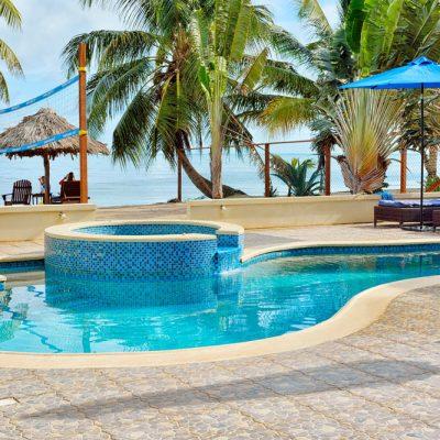 Pool on Belize beach